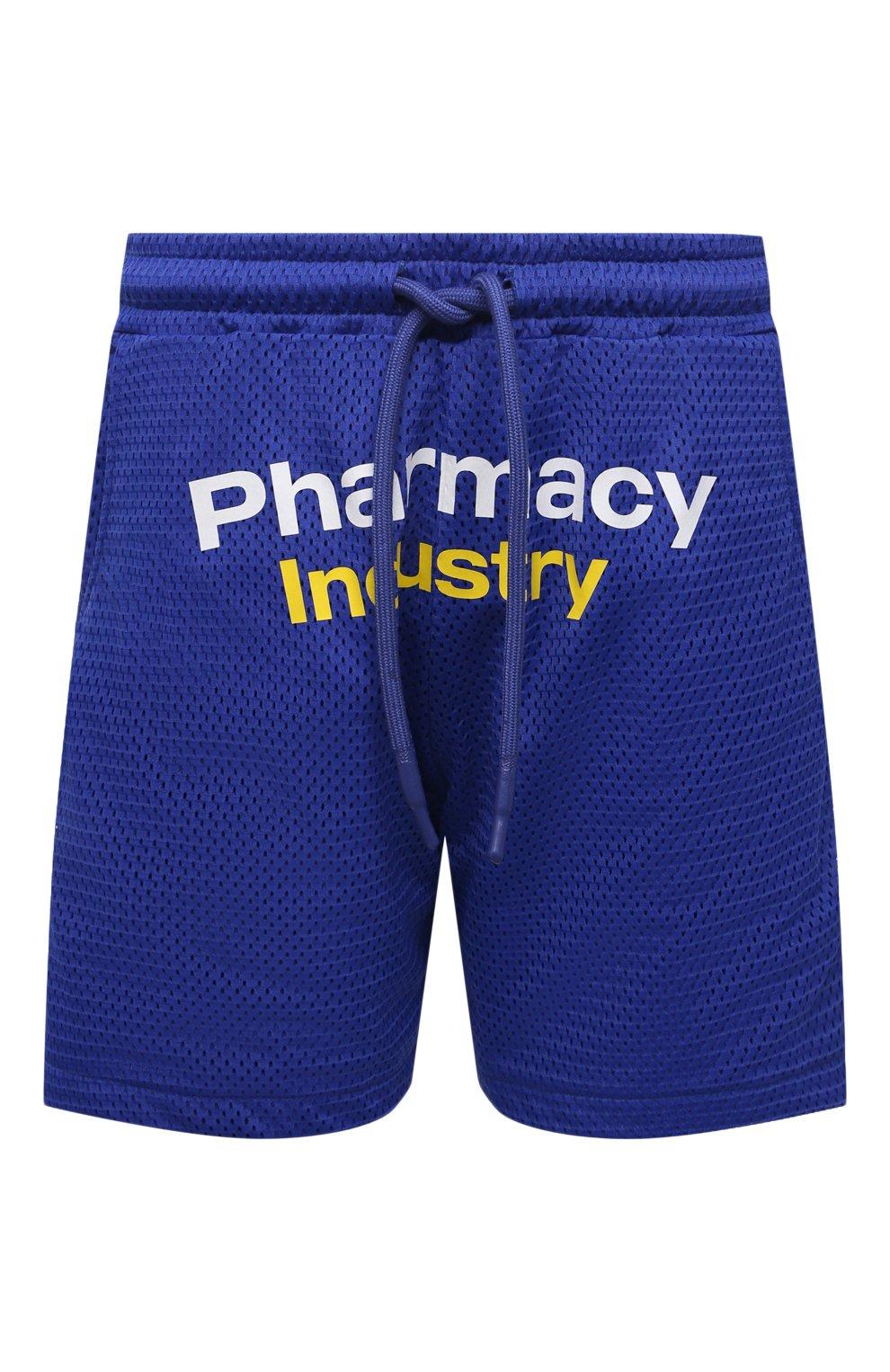 Мужские шорты PHARMACY INDUSTRY синего цвета, арт. PHM230 | Фото 1