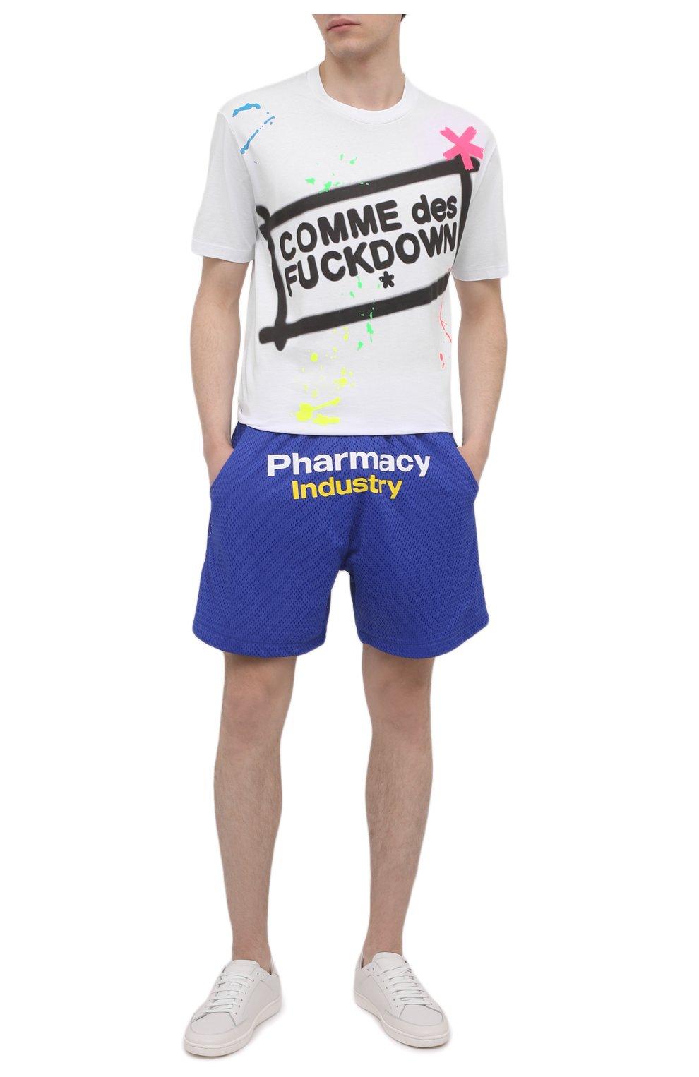Мужские шорты PHARMACY INDUSTRY синего цвета, арт. PHM230 | Фото 2