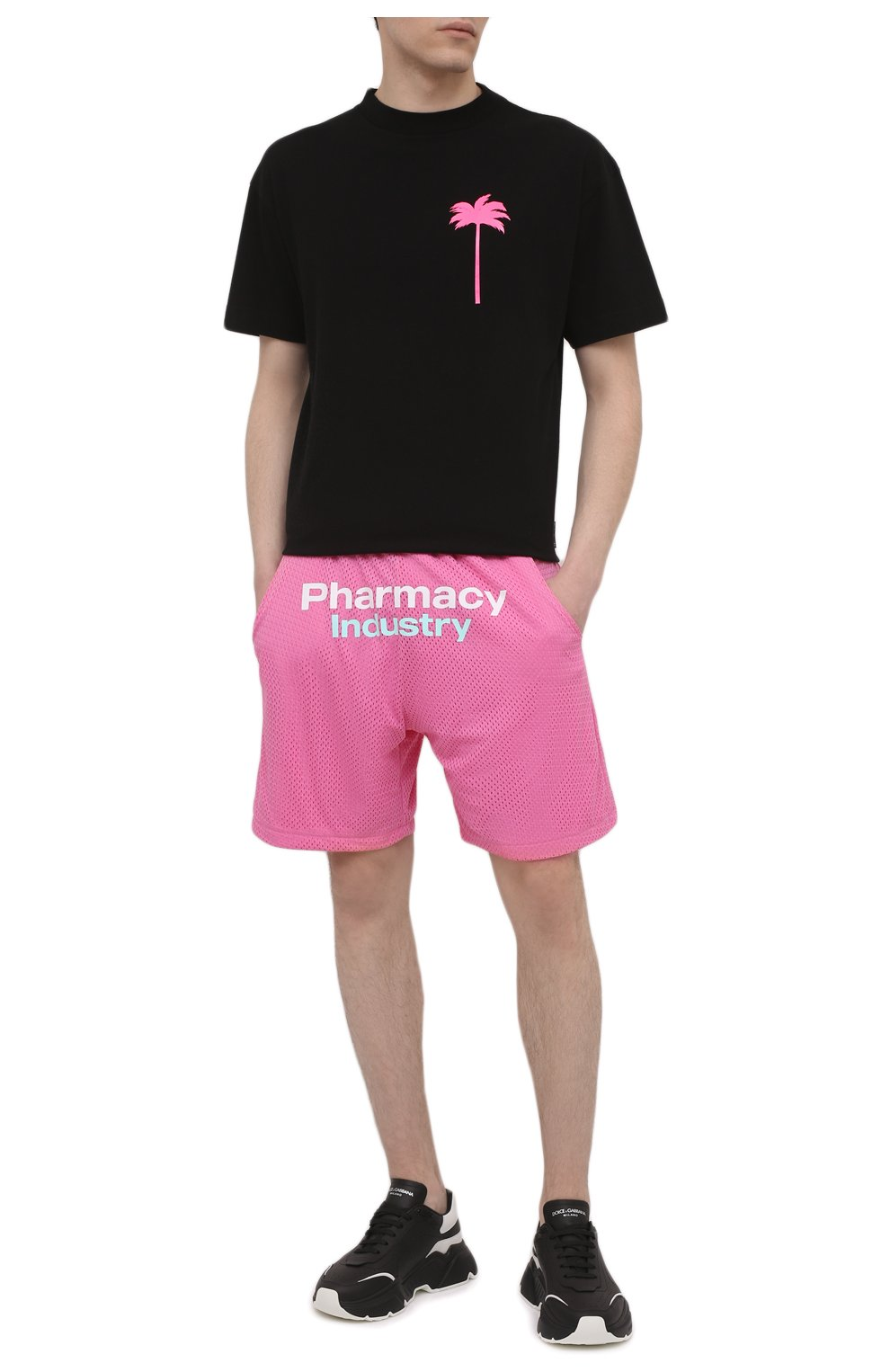 Мужские шорты PHARMACY INDUSTRY розового цвета, арт. PHM230 | Фото 2