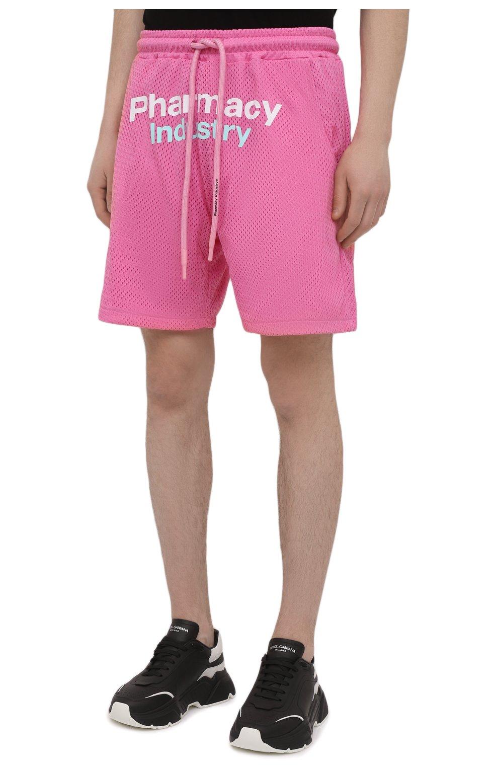 Мужские шорты PHARMACY INDUSTRY розового цвета, арт. PHM230 | Фото 3