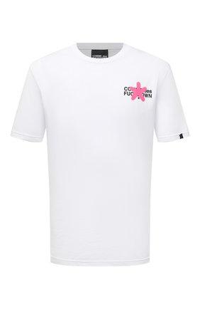 Мужская хлопковая футболка COMME DES FUCKDOWN белого цвета, арт. CDFU1207 | Фото 1