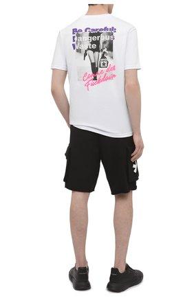 Мужская хлопковая футболка COMME DES FUCKDOWN белого цвета, арт. CDFU1207 | Фото 2