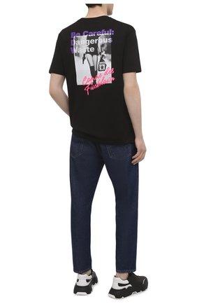 Мужская хлопковая футболка COMME DES FUCKDOWN черного цвета, арт. CDFU1207 | Фото 2
