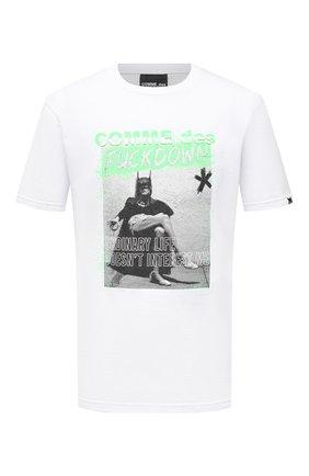 Мужская хлопковая футболка COMME DES FUCKDOWN белого цвета, арт. CDFU1206 | Фото 1