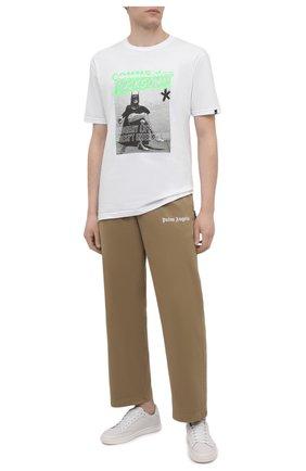 Мужская хлопковая футболка COMME DES FUCKDOWN белого цвета, арт. CDFU1206 | Фото 2