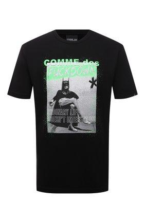 Мужская хлопковая футболка COMME DES FUCKDOWN черного цвета, арт. CDFU1206 | Фото 1