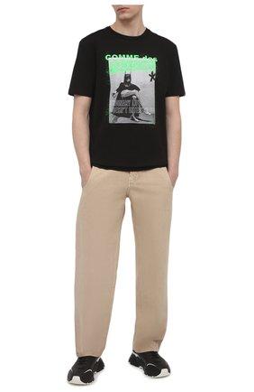 Мужская хлопковая футболка COMME DES FUCKDOWN черного цвета, арт. CDFU1206 | Фото 2