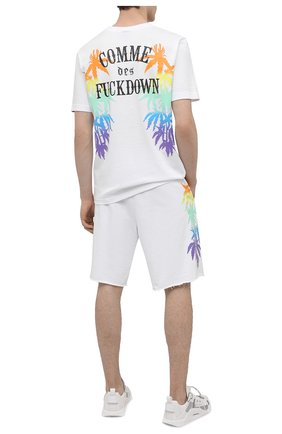 Мужская хлопковая футболка COMME DES FUCKDOWN белого цвета, арт. CDFU1148 | Фото 2
