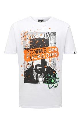 Мужская хлопковая футболка COMME DES FUCKDOWN белого цвета, арт. CDFU1141 | Фото 1