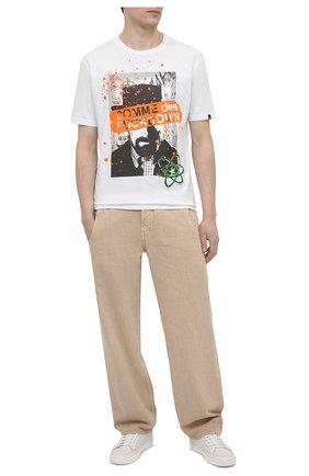 Мужская хлопковая футболка COMME DES FUCKDOWN белого цвета, арт. CDFU1141 | Фото 2