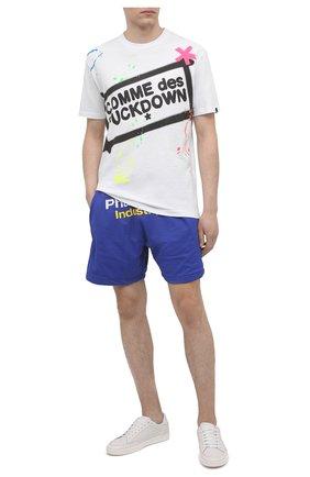 Мужская хлопковая футболка COMME DES FUCKDOWN белого цвета, арт. CDFU1126 | Фото 2