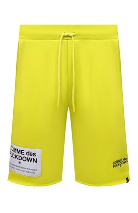 Мужские хлопковые шорты COMME DES FUCKDOWN светло-зеленого цвета, арт. CDFU1115 | Фото 1