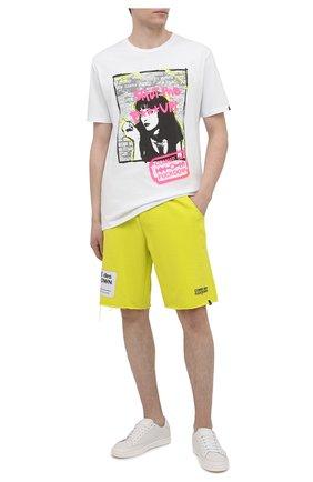 Мужские хлопковые шорты COMME DES FUCKDOWN светло-зеленого цвета, арт. CDFU1115 | Фото 2