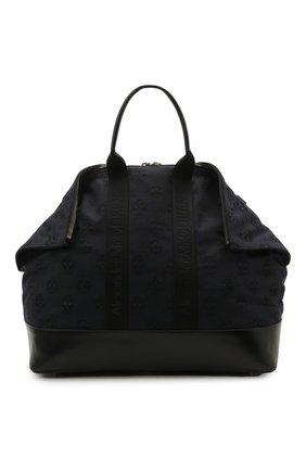 Мужская текстильная сумка ALEXANDER MCQUEEN темно-синего цвета, арт. 575553/1AAAM   Фото 1 (Материал: Текстиль; Ремень/цепочка: На ремешке)