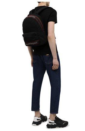 Мужской текстильный рюкзак ALEXANDER MCQUEEN черного цвета, арт. 646457/1AAAJ | Фото 2