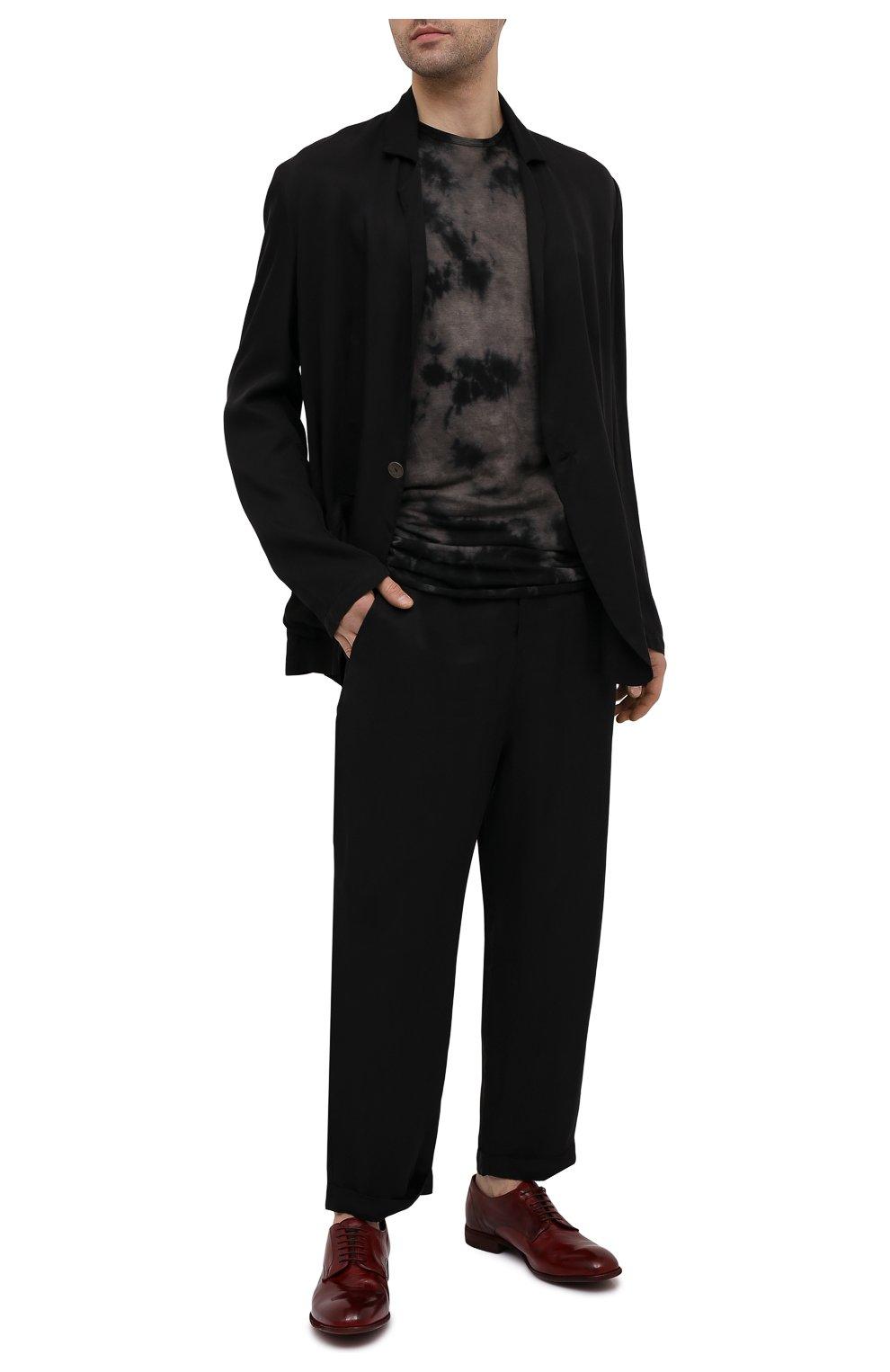 Мужские кожаные дерби LEMARGO красного цвета, арт. CZ11A/MAJESTIC   Фото 2