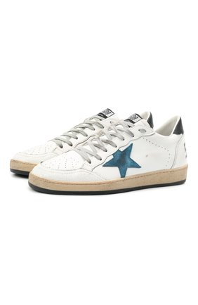 Мужские кожаные кеды ball star GOLDEN GOOSE DELUXE BRAND белого цвета, арт. GMF00117.F000637 | Фото 1