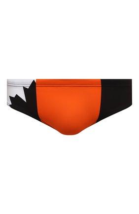 Мужские плавки DSQUARED2 разноцветного цвета, арт. D7B353890 | Фото 1 (Материал внешний: Синтетический материал; Мужское Кросс-КТ: плавки; Принт: С принтом)