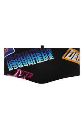 Мужские плавки DSQUARED2 разноцветного цвета, арт. D7B5A3870 | Фото 1 (Принт: С принтом; Материал внешний: Синтетический материал; Мужское Кросс-КТ: плавки)