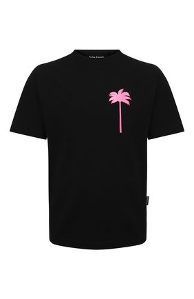Мужская хлопковая футболка PALM ANGELS черного цвета, арт. PMAA001S21JER0081032 | Фото 1