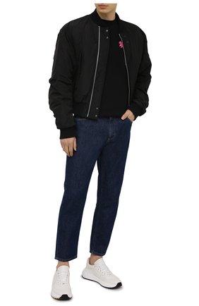 Мужская хлопковая футболка PALM ANGELS черного цвета, арт. PMAA001S21JER0081032 | Фото 2