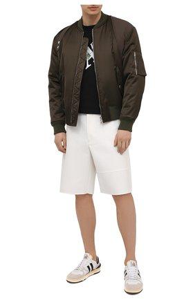 Мужская хлопковая футболка PALM ANGELS черного цвета, арт. PMAA041S21JER0041001 | Фото 2