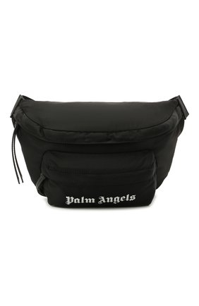 Мужская текстильная поясная сумка PALM ANGELS черного цвета, арт. PMN0002S21FAB0011001 | Фото 1