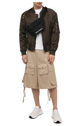 Мужская текстильная поясная сумка PALM ANGELS черного цвета, арт. PMN0002S21FAB0011001 | Фото 2