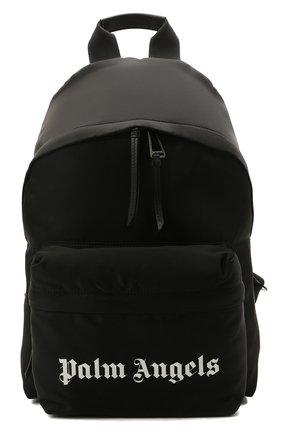 Мужской текстильный рюкзак PALM ANGELS черного цвета, арт. PMNB012S21FAB0011001 | Фото 1