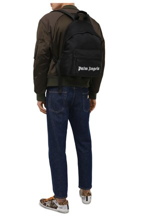 Мужской текстильный рюкзак PALM ANGELS черного цвета, арт. PMNB012S21FAB0011001 | Фото 2