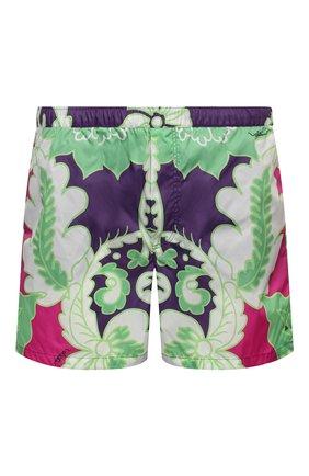 Мужские плавки-шорты VALENTINO разноцветного цвета, арт. VV3UH02879W | Фото 1 (Мужское Кросс-КТ: плавки-шорты; Принт: С принтом; Материал внешний: Синтетический материал)