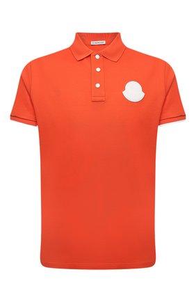 Мужское хлопковое поло MONCLER оранжевого цвета, арт. G1-091-8A724-00-84673 | Фото 1