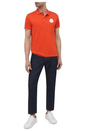 Мужское хлопковое поло MONCLER оранжевого цвета, арт. G1-091-8A724-00-84673 | Фото 2