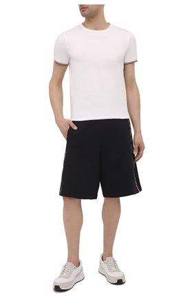 Мужские хлопковые шорты MONCLER темно-синего цвета, арт. G1-091-8H740-10-809LA | Фото 2