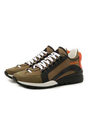 Мужские комбинированные кроссовки 551 DSQUARED2 хаки цвета, арт. SNM0505 11702261 | Фото 1