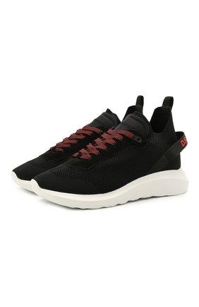 Мужские текстильные  кроссовки speedster  DSQUARED2 черно-белого цвета, арт. SNM0074 59202114 | Фото 1