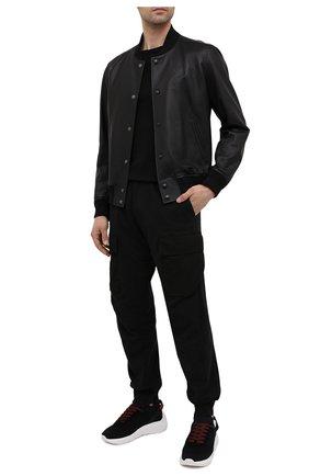 Мужские текстильные  кроссовки speedster  DSQUARED2 черно-белого цвета, арт. SNM0074 59202114 | Фото 2