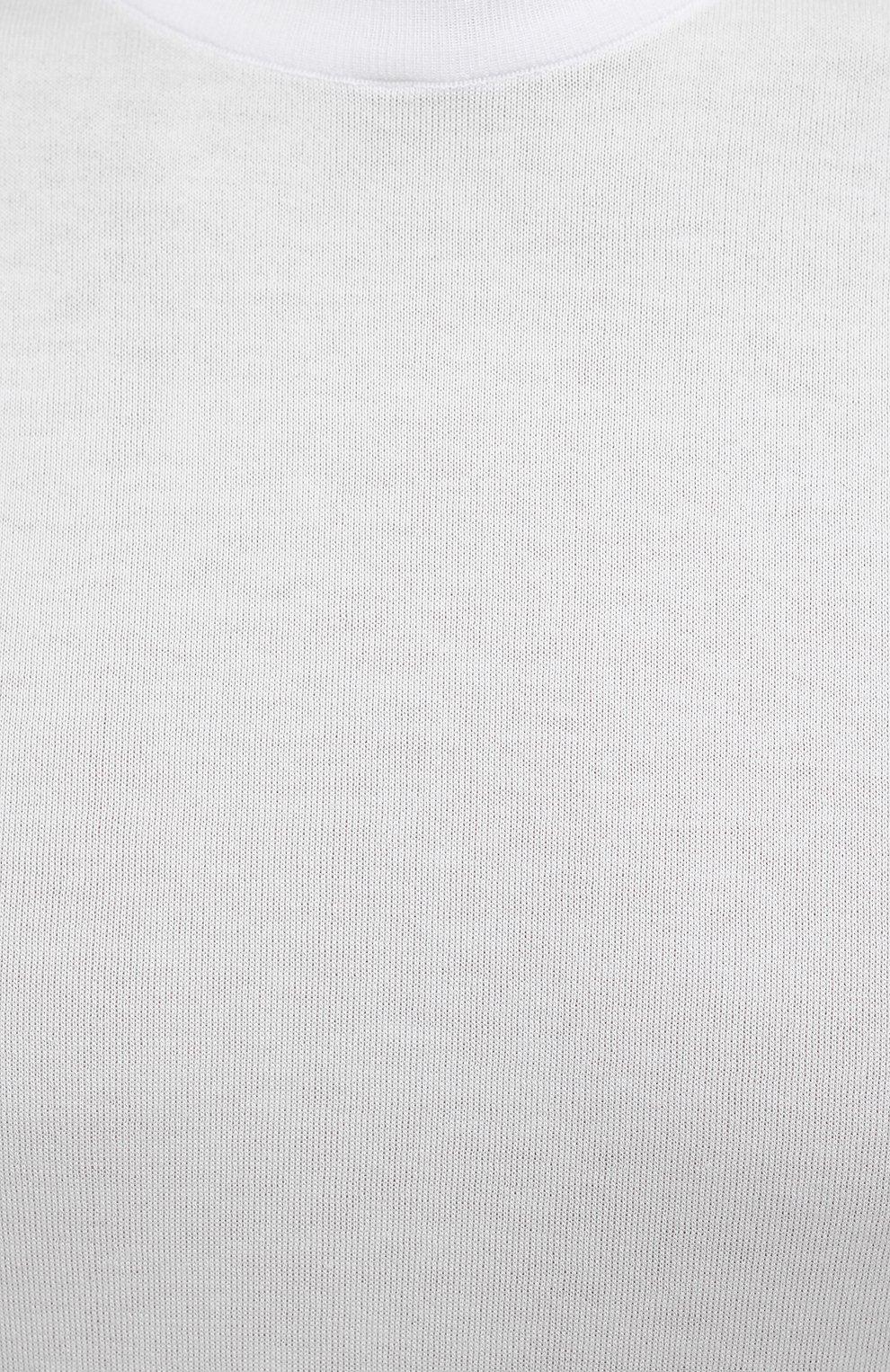 Мужской хлопковый джемпер SVEVO белого цвета, арт. 4650/3SE21/MP46   Фото 5 (Мужское Кросс-КТ: Джемперы; Принт: Без принта; Рукава: Короткие; Длина (для топов): Стандартные; Материал внешний: Хлопок; Вырез: Круглый; Стили: Кэжуэл)