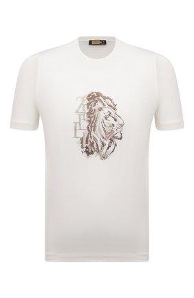 Мужская хлопковая футболка ZILLI белого цвета, арт. MEV-NT280-LY0N1/MC01 | Фото 1 (Материал внешний: Хлопок; Длина (для топов): Стандартные; Рукава: Короткие; Принт: С принтом; Стили: Кэжуэл)