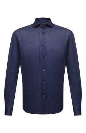 Мужская хлопковая сорочка CORNELIANI темно-синего цвета, арт. 87P112-1111213/00 | Фото 1