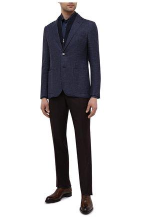 Мужская хлопковая сорочка CORNELIANI темно-синего цвета, арт. 87P112-1111213/00 | Фото 2