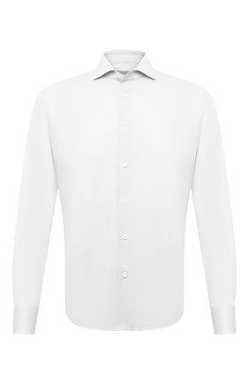 Мужская хлопковая сорочка CORNELIANI белого цвета, арт. 87P112-1111213/00 | Фото 1