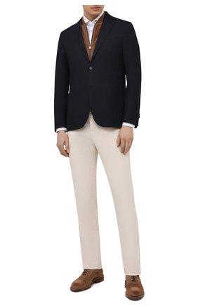 Мужская хлопковая сорочка CORNELIANI белого цвета, арт. 87P112-1111213/00 | Фото 2