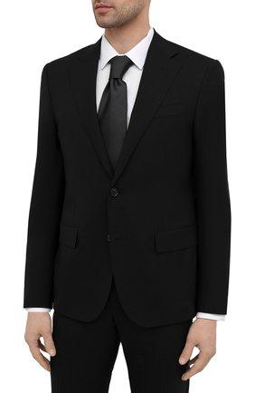 Мужской шерстяной костюм CORNELIANI черного цвета, арт. 877268-1118414/92 Q1 | Фото 2 (Материал внешний: Шерсть; Рукава: Длинные; Костюмы М: Однобортный; Стили: Классический; Материал подклада: Купро)