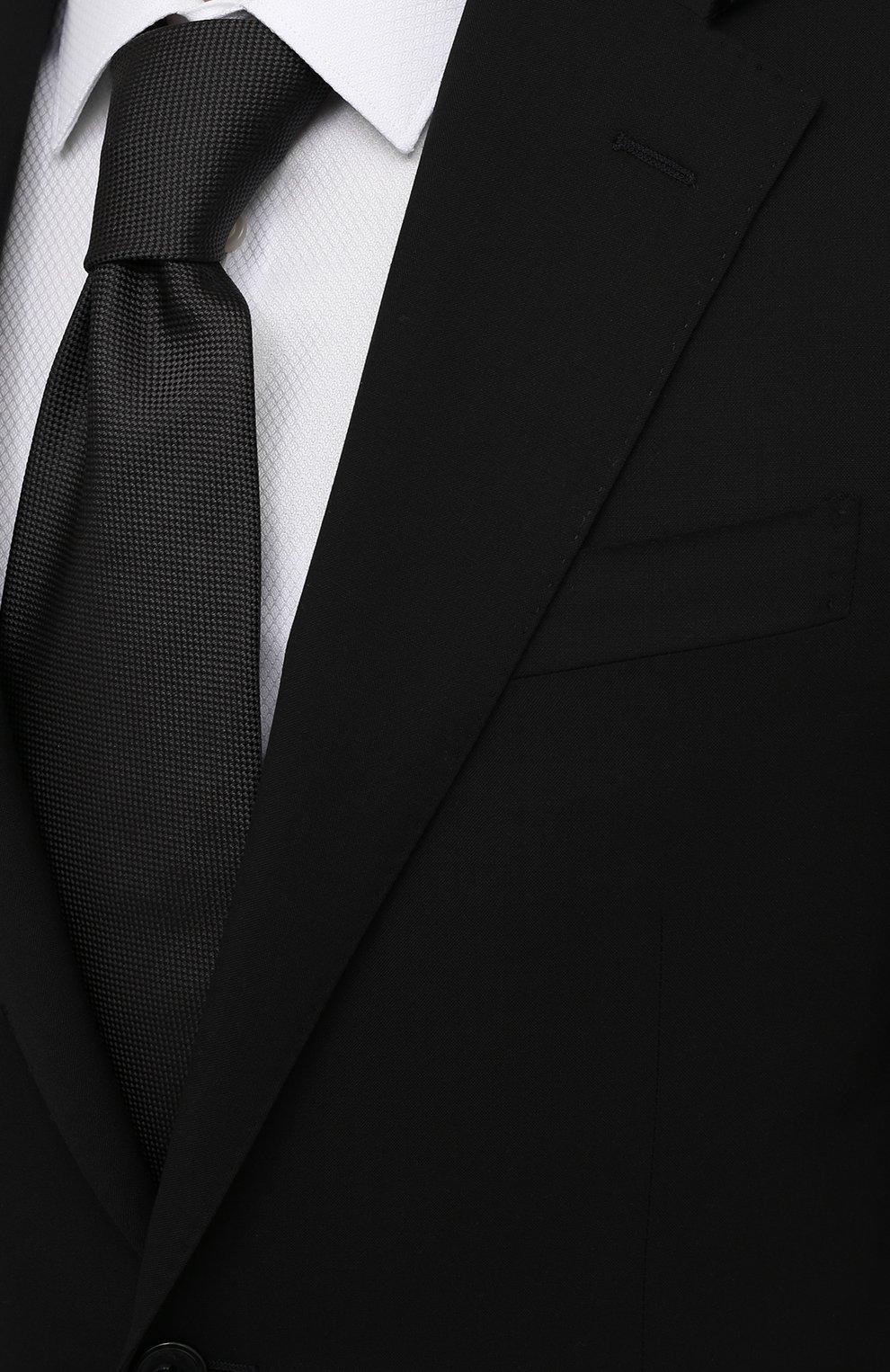 Мужской шерстяной костюм CORNELIANI черного цвета, арт. 877268-1118414/92 Q1 | Фото 6 (Материал внешний: Шерсть; Рукава: Длинные; Костюмы М: Однобортный; Стили: Классический; Материал подклада: Купро)