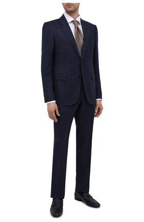 Мужские кожаные пенни-лоферы CORNELIANI темно-синего цвета, арт. 87TM95-1120990 | Фото 2