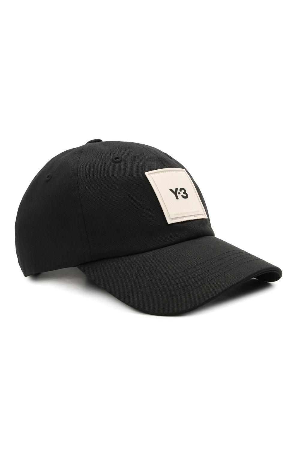 Мужской хлопковая бейсболка Y-3 черного цвета, арт. GT6379/M | Фото 1