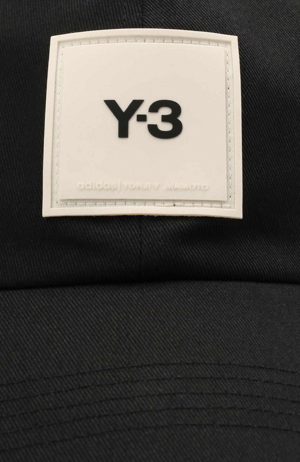 Мужской хлопковая бейсболка Y-3 черного цвета, арт. GT6379/M | Фото 3