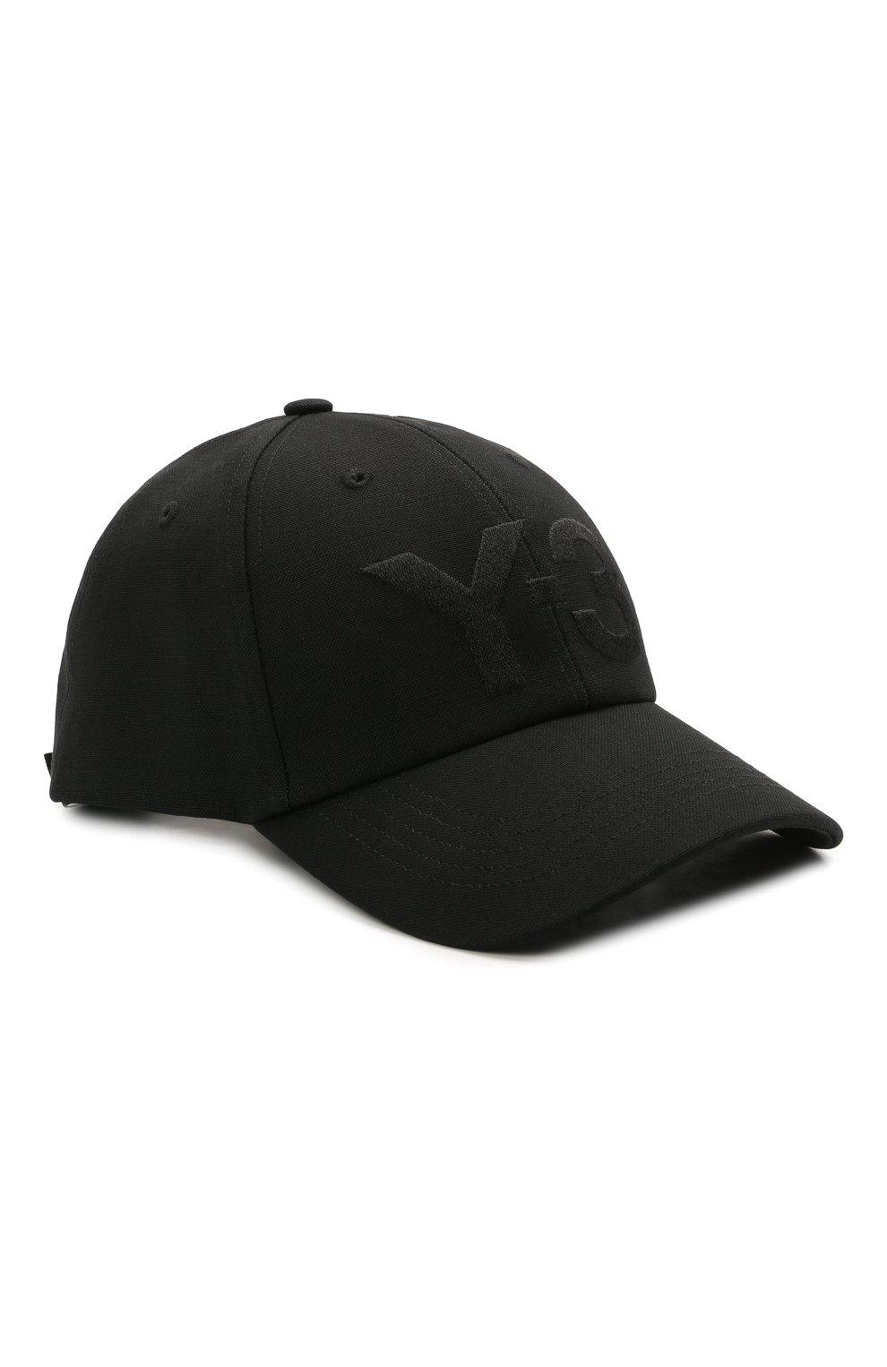 Мужской хлопковая бейсболка Y-3 черного цвета, арт. GK0626/M | Фото 1