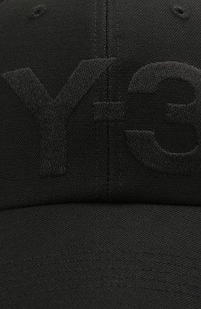 Мужской хлопковая бейсболка Y-3 черного цвета, арт. GK0626/M | Фото 3